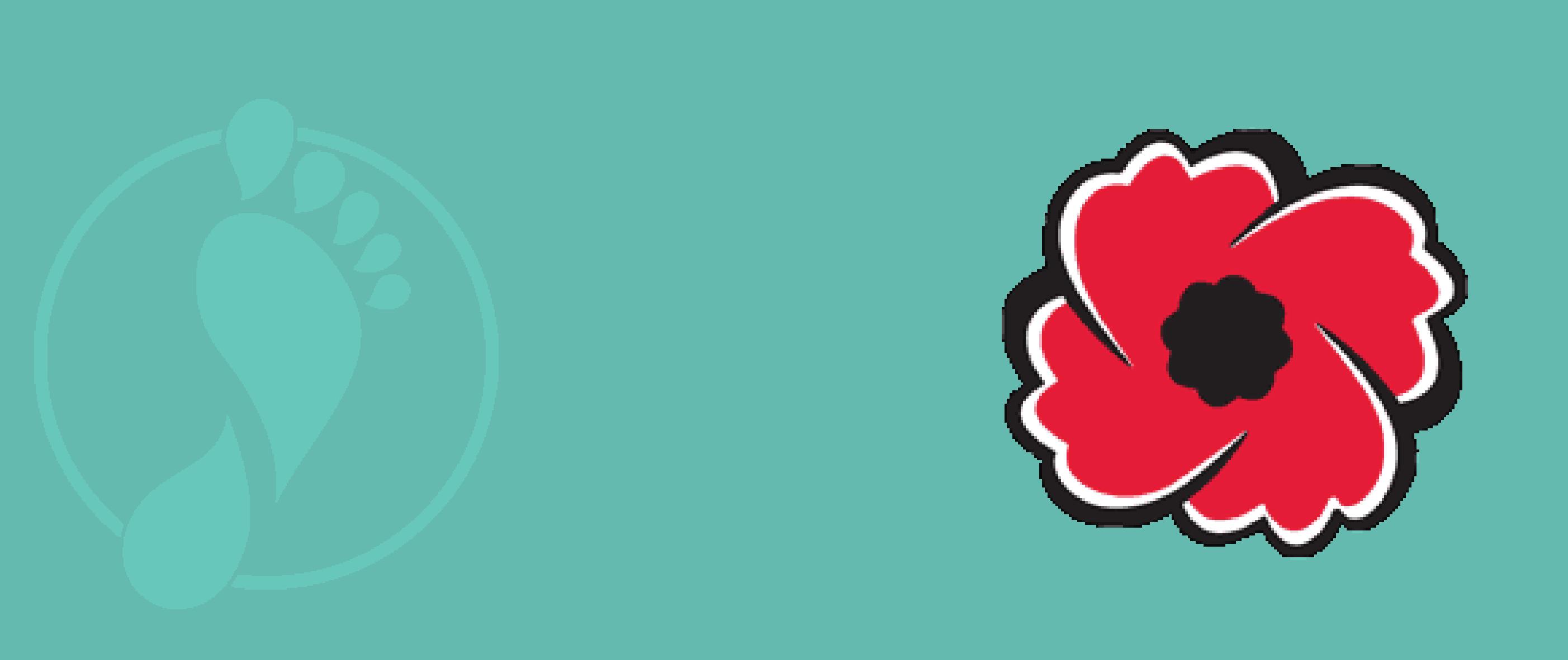 Logo with poppy